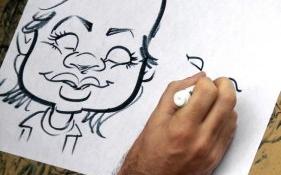 Blue Spark Event Design - Caricature