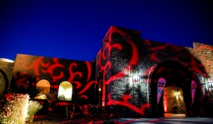 Blue Spark - Los Cendros - red gobo lighting - Arizona