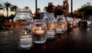 Blue Spark - Phoencian - Jokake Inn - Candle, Mason jar, tea lights