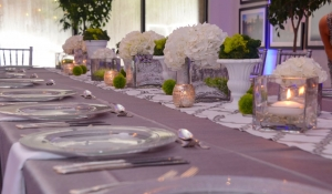 Blue Spark - Table Scape of green, white and silver