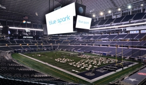Blue Spark Event Design - AT&T Stadium, corporate event on the field