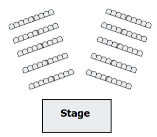 Example of a chevron seating layout.