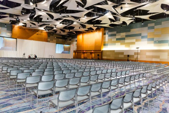 Blue Spark Event Design hosting a corporate conference.