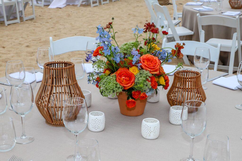 Custom event mexican theme table design