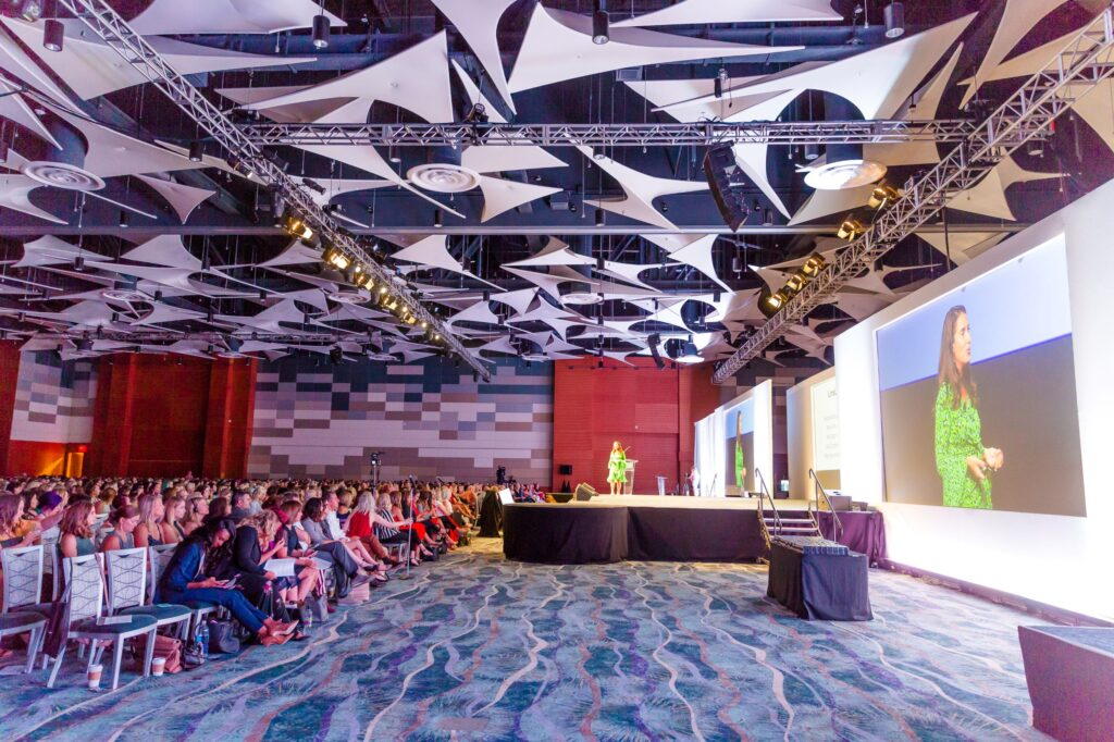 General session custom stage set and audio visual