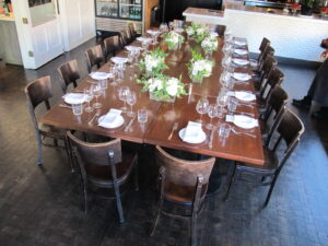 Photo of Sonoma Valley Private Dinner. Table with Florals