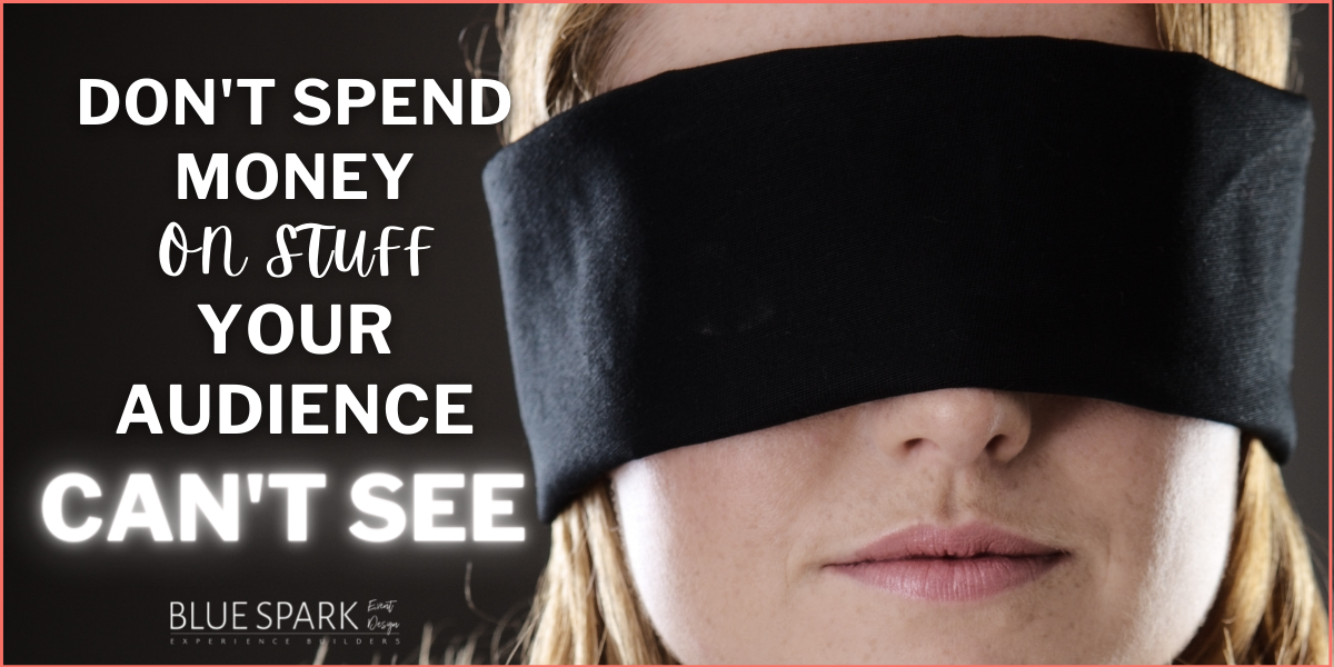 Photo of woman in blindfold with title of blog
