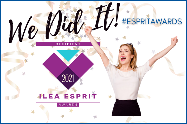 Photo of Esprit Award Graphic and Winner
